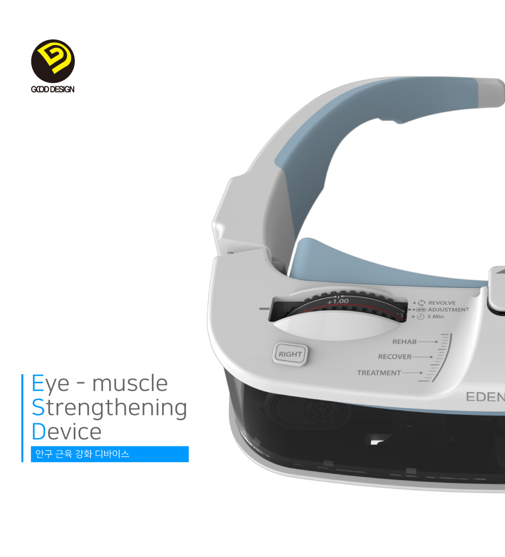 Eye muscle strengthening device